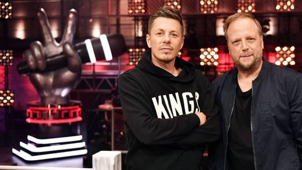 """Die Musiker Michi Beck (l.) und Smudo, Jurymitglieder der Musik-Show """"The Voice of Germany"""""""