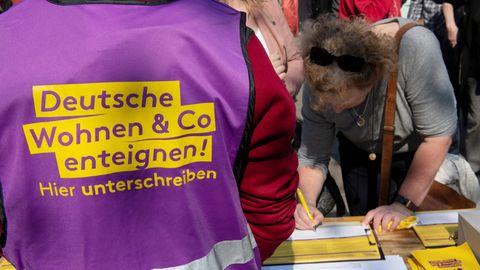 Unterschriftensammlung für Enteignungen