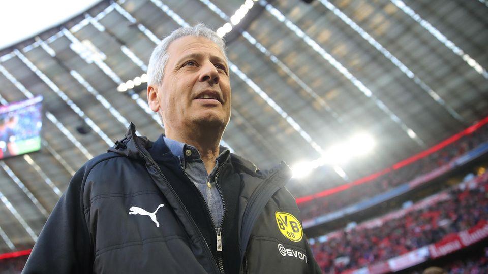 Da war die BVB-Welt noch in Ordnung: Coach Lucien Favre ging als Tabellenführer in die Partie am Samstagabend