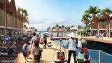 Die schwimmenden Stadt soll mit und von dem Meer leben.