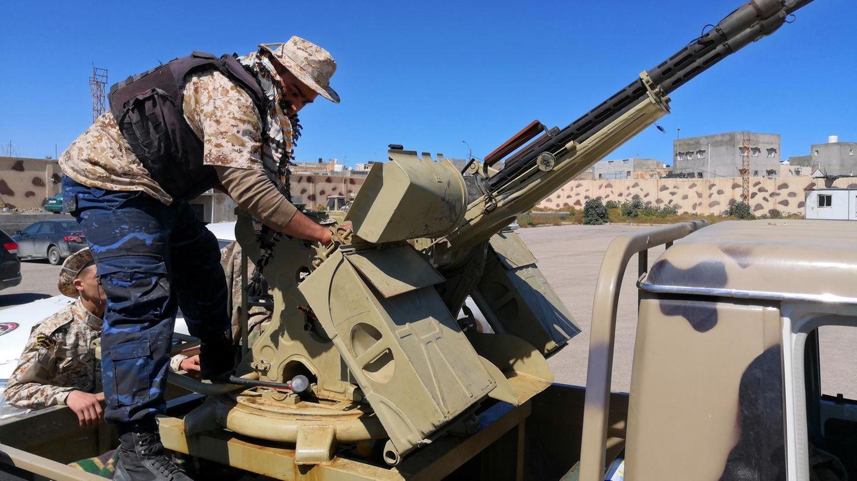 Truppen des Generals Chalifa Haftar rücken seit Donnerstag auf die Hauptstadt Tripolis vor