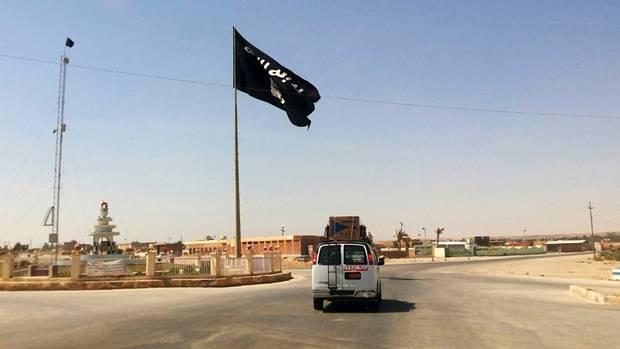 IS-Flagge im Irak
