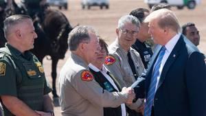 US-Präsident Donald Trump vergangenen Freitag bei seinem Besuch der Grenze zu Mexikoin Calexico im Bundesstaat Kalifornien