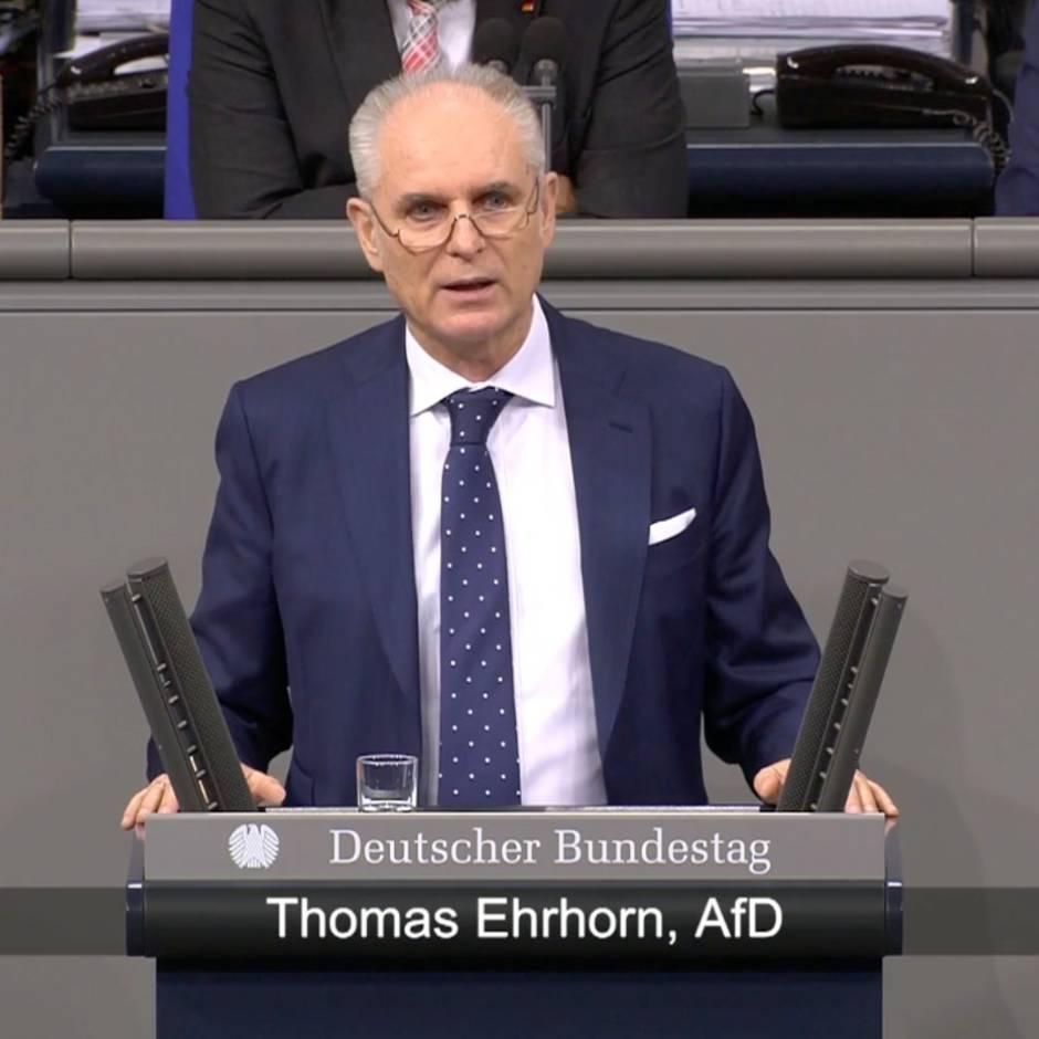 AfD im Bundestag: Thomas Ehrhorn entsetzt Historiker und Auschwitz-Komitee