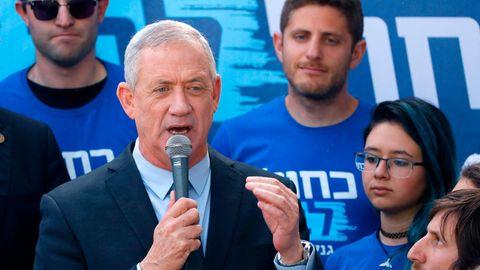 Benny Gantz bei einer Wahlkampfveranstaltung