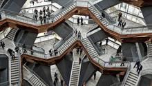 """The Vessel:Das 45 Meter hohe """"Gefäß"""" besteht aus 154 Treppenelementen, die über 80 Podeste miteinander verbunden sind."""
