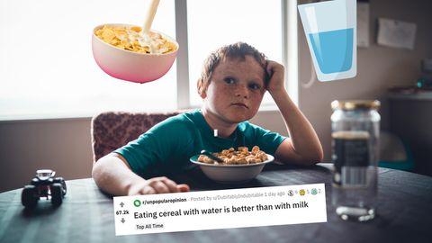 Cornflakes Wasser Milch Reddit