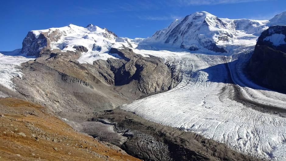 Der Gornergletscher in der Schweiz