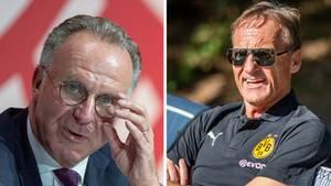 Bayern-Boss Karl-Heinz Rummenigge (l.) und BVB-Geschäftsführer Hans-Joachim Watzke