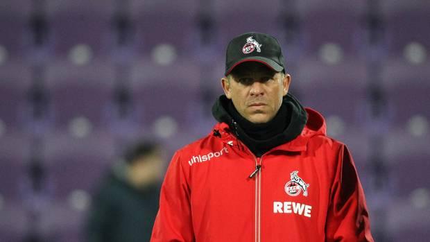Trainer des 1. FC Köln Markus Anfang verließ nach dem Spiel schnell das Stadion