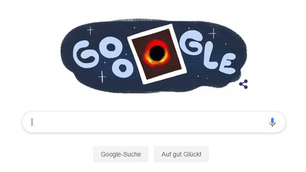 Google Doodle Schwarzes Loch