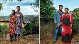 Aufnahmen von2007 (l.) und 2019  Josette: Ich hatte eine sehr schwierige Zeit mit meinem Sohn. Als ich ihm sagte, dass er das Ergebnis einer Vergewaltigung sei, wollte er mir erst nicht glauben. Er wurde gewalttätig, griff mich sogar an und sagte, ich hätte seinen Vater getötet. Auch seine Schwester hat er später attackiert, weil sie Tutsi ist und er sich als Hutu fühlt, wie es sein Vater war. Mir ist klar, dass er dasselbe Trauma durchlebt wie ich. Es ist nicht seine Schuld. Ich versuche, ihn zu verstehen, so wie er ist. Langsam verändert er sich. Früher wollte er mich nur Stiefmutter nennen. Nun aber nennt er mich auch Mutter.  Thomas: Als Ergebnis einer Vergewaltigung geboren worden zu sein hat mein Leben geprägt. Und mich auch so wütend gemacht. Ich habe mich lange Zeit schlecht gefühlt, weil mein Vater ein Mörder und Vergewaltiger ist. Als Sohn eines solchen Mannes identifiziert zu werden tut sehr weh. Ich habe dann beschlossen, so zu tun, als ob er gar nicht existiere, als ob er gar nicht mein Vater sei. Ich hab ihn aus meinem Leben gelöscht. Ich bin hier, und ich habe eine Mutter. Über meinen Vater will ich nichts mehr wissen.