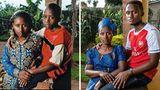 """Aufnahmen von2007 (l.) und 2019  Odette: Obwohl ich den Völkermord überlebt hatte, fühlte ich mich jahrelang wie tot. Da war kein Leben in mir. Ich hauste mehr oder weniger auf der Straße und ging betteln. Ich hasste alle Männer. Mit den Jahren heilte das, jetzt habe ich eine neue Beziehung und auch ein Baby. Ich gebe auf mich acht, nehme regelmäßig die Medikamente gegen Aids (die HIV-Infektion ist ein Ergebnis der Vergewaltigungen, Anm. d. Red.). Zu meinem Sohn, der aus der Gewalt entstanden ist, hab ich kein gutes Verhältnis. Er hat keinen Respekt vor mir. Manchmal betrinkt er sich und verschwindet zu meinen Verwandten. Die Leute sehen mich dann als gescheiterte Mutter – obwohl ich doch alles versucht habe, dass aus ihm ein anständiger Mann wird.  Martin: Ich liebe meine Mutter, und ich weiß, dass sie mich liebt, doch mehr ist da nicht. Sie hat dafür gesorgt, dass ich genug zu essen hatte und eine Ausbildung bekam. Aber schon als kleines Kind gab sie mich für fünf Jahre zu Verwandten, um ihre Schulausbildung zu Ende zu bringen. Als sie mich wieder zu sich nahm, hab ich zu ihr """"Tante"""" gesagt – ich konnte mir einfach nicht vorstellen, dass diese Frau meine Mutter sei. Nachdem sie 2013 geheiratet hatte, hatte ich das Gefühl, es interessiere sie nicht mehr, wie es mir ging. Einmal saßen wir zusammen, da habe ich ihr gesagt: """"Ich hätte so gern, dass du mir sagst, dass du mich liebst, aber du tust es nie."""" Sie sagte dann: """"Ich gebe auf dich acht und habe alles für dich getan."""" Aber die Worte """"Ich liebe dich"""", die konnte sie nicht sagen."""