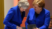Angela Merkel und Theresa May beim Brexit-Gipfel
