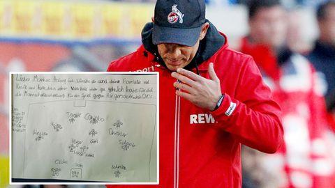Ein Fan des 1. FC Köln schrieb einen Brief an Coach Markus Anfang