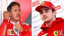 Sebastian Vettel (l.) und Charles Leclerc: Noch geht es gesittet zu zwischen den beiden Ferrari-Piloten