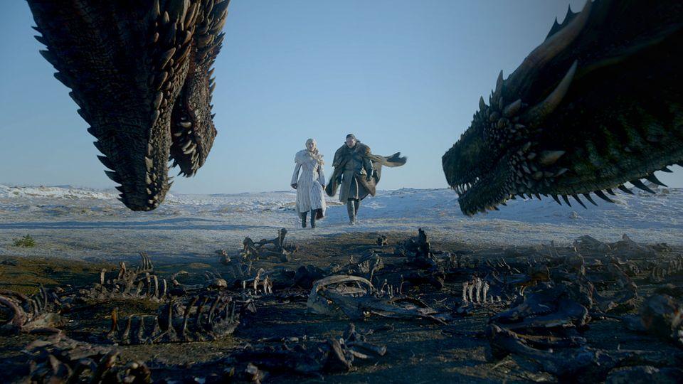 Wütende Drachen, viele Skelette - das sieht doch schon mal vielversprechend aus.