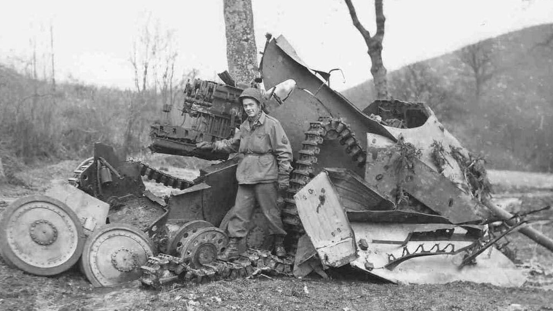 Seitlich war der Panzer kaum gegen Beschuss gesichert.