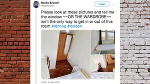 Wohnungsnot in London: kuriose Anzeige für WG-Zimmer ohne Tür