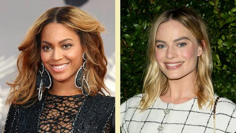 Kunst Gesichter Beyonce Margot Robbie