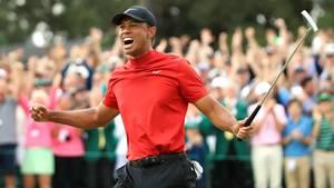 Golf-Superstar Tiger Woods feiert seinen Comeback-Triumph in Augusta