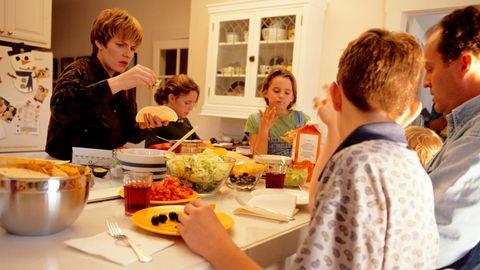Familie mit mehreren Kindern