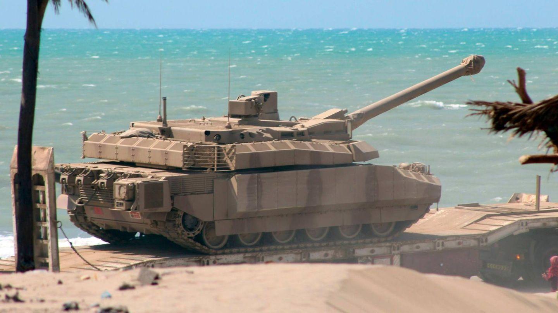 Ein französischer Leclerc-Panzer im Jemen