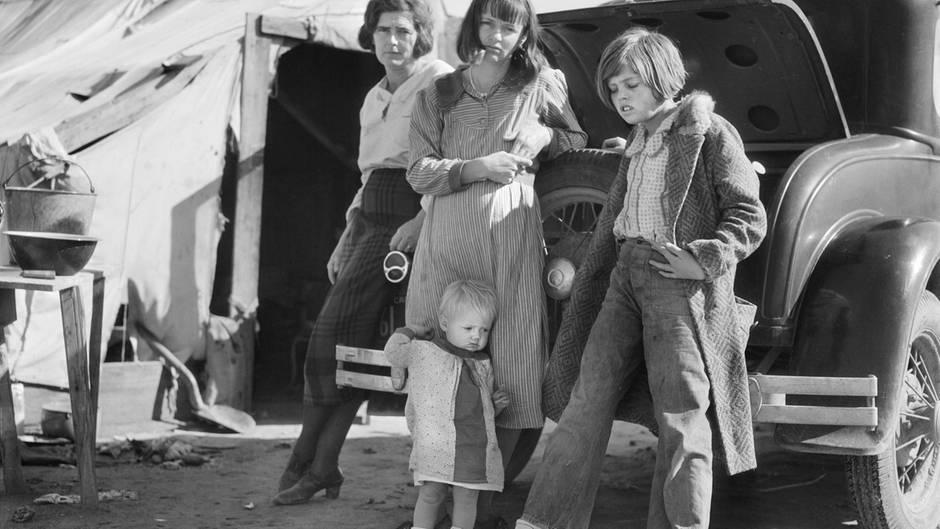 Viele suchten in Kalifornien nach einem Neuanfang und landeten in Elendslagern.