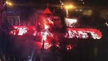 Ein Bild von oben zeigt, wie sehr die Flammen gewütet haben.