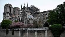 Notre-Dame am Dienstagmorgen: Das Feuer hatden Sakralbau im Herzen der französischen Hauptstadt schwer beschädigt