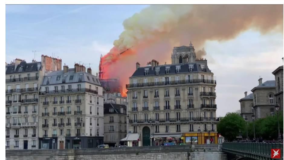 Auf Youtube wurden viele Bilder des Brandes in Notre Dame geteilt.