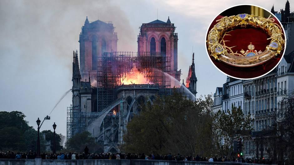 Feuer von Notre-Dame: Jesu Dornenkrone: Diese unbezahlbaren Schätze konnten aus den Flammen gerettet werden