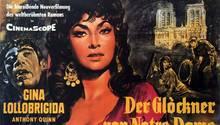 """Der Roman """"Der Glöckner von Notre Dame"""" lebt in den Verfilmungen weiter. Hier die Version von 1966 mit Gina Lollobrigida als Esmeralda und Anthony Quinn alsQuasimodo."""