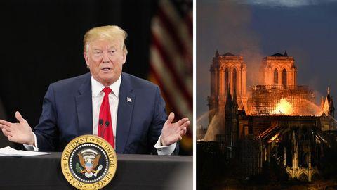 Trump äußerte sich zum Brand in Notre-Dame