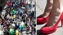 Beim Paris Marathon lief eine Frau einen Weltrekord in High Heels