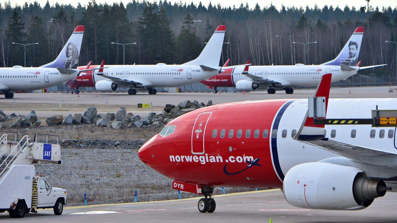 """Flugzeuge der """"Norwegian Air"""" auf dem Flughafen Atlanta: Die Fluggesellschaft ist die größte Airline in Norwegen"""