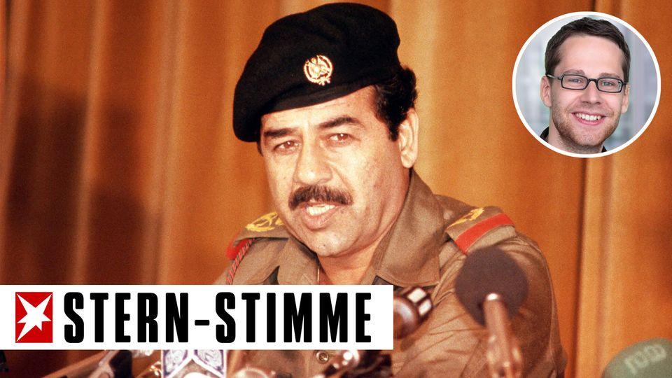 Lost in Nahost: Der frühere irakische Diktator Saddam Hussein mit Bart