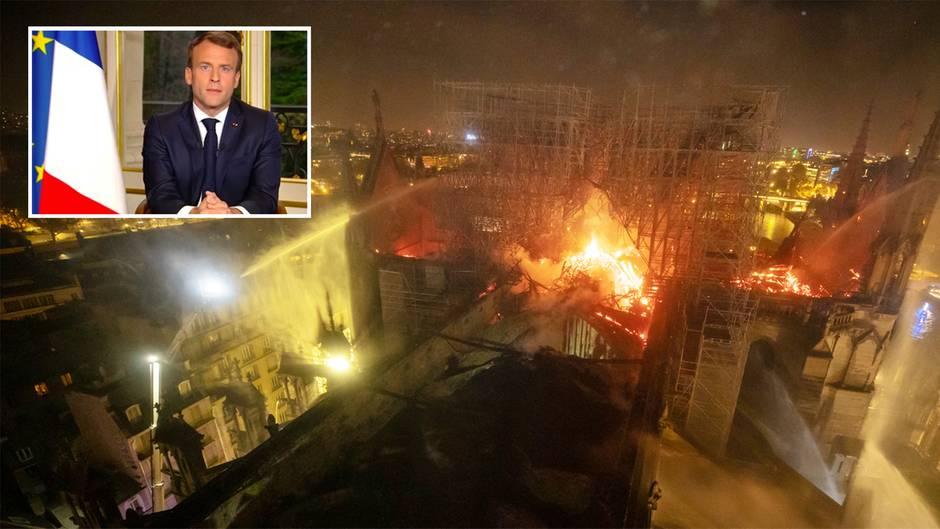 Inferno von Paris: Macron will Notre-Dame in fünf Jahren wieder aufbauen