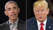 Barack Obama (l.) und Donald Trump