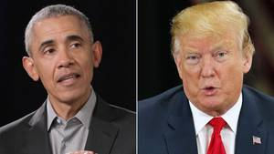 Barack Obama (l.) und Donald Trump