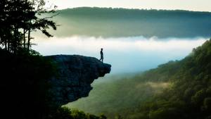 Hawksbill Crag Arkansas tödlicher Sturz