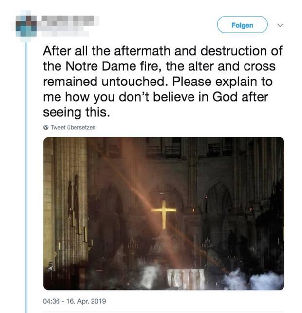Notre Dame Tweet