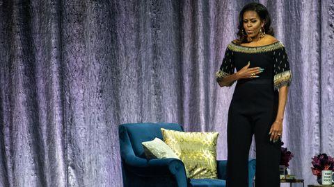Michelle Obama auf der Bühne