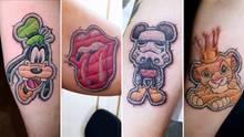 Tattoos sehen aus wie Aufnäher