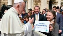 Rom: Greta Thunberg trifft den Papst – der hat eine wichtige Botschaft für sie