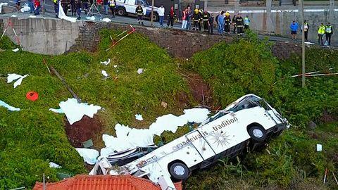 29 von 57 Fahrgästen sterben bei dem Unfall auf Madeira