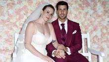 Caona Maron undLeonard Freier bei ihrer Hochzeit im Juni 2018
