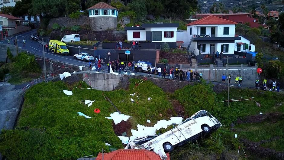 Busunglück in Madeira