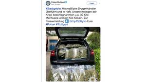 30 Kilogramm Marihuana beschlagnahmten die Beamten – in Wert von 100.000 Euro