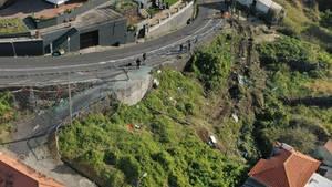 Unfallort auf Madeira
